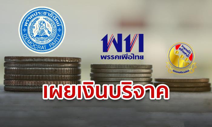 """อึ้ง! มนุษย์เงินเดือนทุ่มภาษี 77% บริจาคให้ """"ประชาธิปัตย์"""" ทิ้งห่าง """"เพื่อไทย"""" ไม่เห็นฝุ่น"""