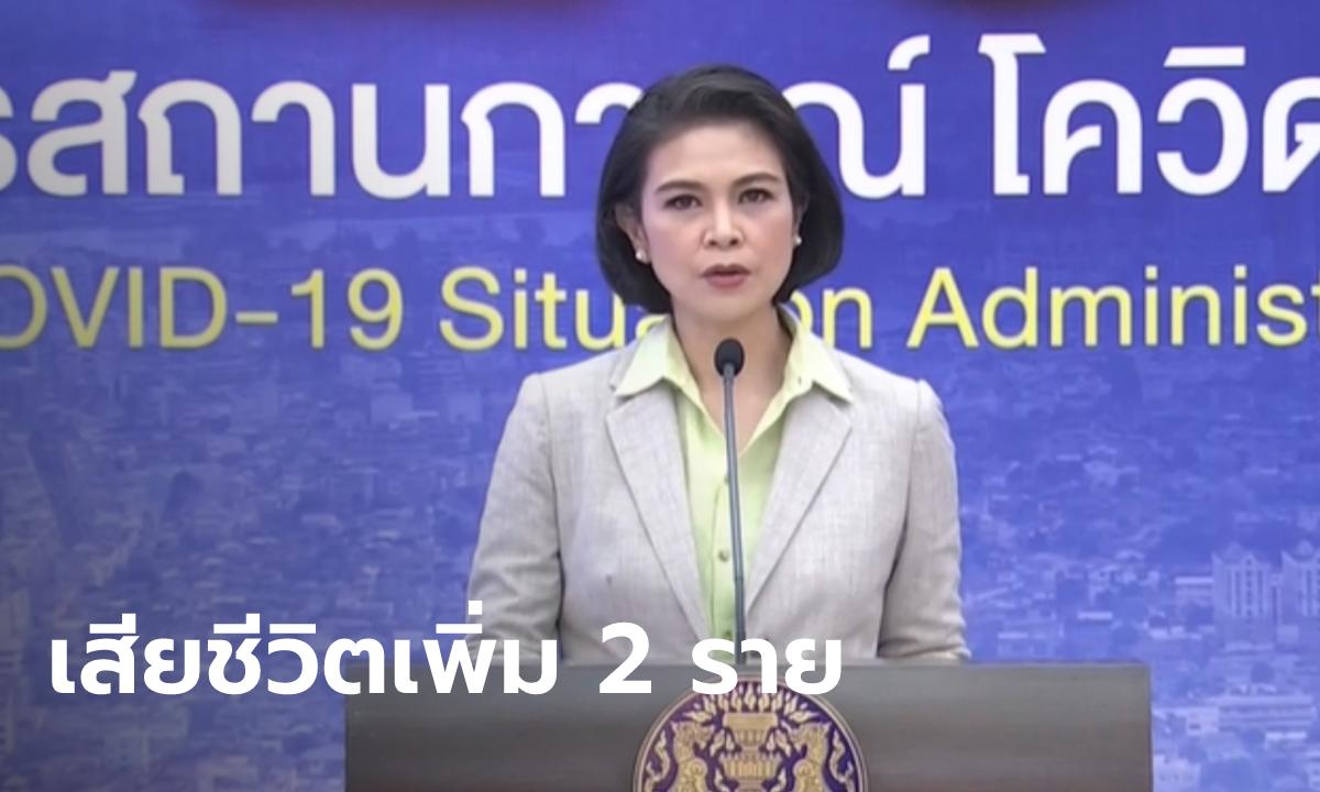 โควิดวันนี้ ศบค.แถลงไทยพบผู้ติดเชื้อเพิ่ม 1,458 ราย เสียชีวิตอีก 2 ราย