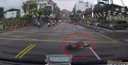 ระวังแก๊งวิ่งให้รถชน ทำเนียนวิ่งมาล้มหน้ารถ