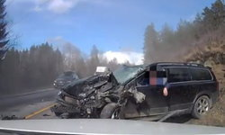 เผยคลิป Volvo XC70 ชนประสานงาอย่างแรงแต่คนขับไม่เป็นอะไรเลย