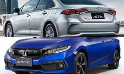 เทียบช็อต Toyota Altis 2019 และ Honda Civic 2019 ใหม่ คันไหนสวยกว่ากัน?