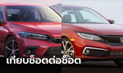 เทียบทุกช็อต Honda Civic โฉมใหม่-โฉมปัจจุบัน คันไหนสวยกว่ากัน