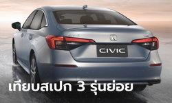 เทียบสเปก All-new Honda Civic 2021 ใหม่ ทั้ง 3 รุ่นย่อย ราคา 964,900 - 1,199,900 บาท