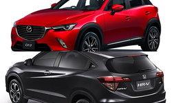 เทียบสเป็ค Mazda CX-3 ปะทะ Honda HR-V ใหม่ อ็อพชั่นใครแน่นกว่ากัน