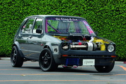 VW GOFT Mk1 EJ20 HOLSET HX45PRO TURBO HKS F-CON V BY KENG SERVICE