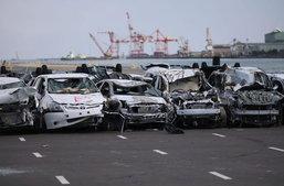สุสานรถญี่ปุ่นรุ่ง... หลังน้ำลดจากเหตุ Tsunami