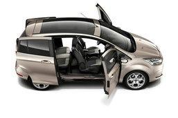 2012 Ford B-Max  เปิดภาพว่าที่อเนกประสงค์พร้อมประตูเลือนไร้เสา B