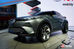 Toyota C-HR Concept ต้นแบบครอสโอเวอร์เผยโฉมที่งานมอเตอร์โชว์ 2016