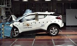 Toyota C-HR ผ่านการรับรองมาตรฐานความปลอดภัยสูงสุดโดย Euro NCAP