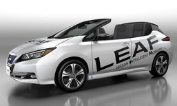 Nissan Leaf Open Car รถไฟฟ้าเปิดประตูฉลองยอดขายลีฟ 1 แสนคัน