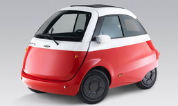 Microlino 2018 รถสามล้อขุมพลังไฟฟ้าวิ่งไกล 215 กม. ขายจริงต้นปีหน้า