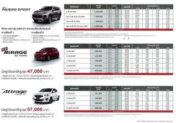 ใบราคา Mitsubishi
