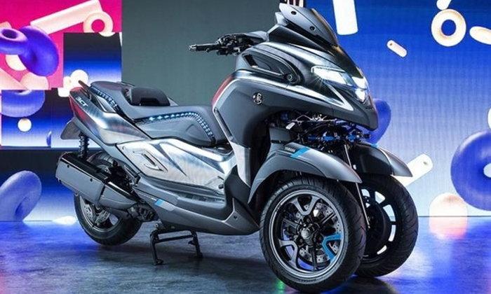 Yamaha 3CT 2019 ใหม่ ต้นแบบมอเตอร์ไซค์ 3 ล้อ ขุมพลัง 300 ซีซี เผยโฉมที่อิตาลี