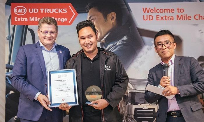 เจ๋ง! นักขับไทยคว้ารางวัลตรวจเช็ครถยอดเยี่ยม UD Extra Mile Challenge 2018