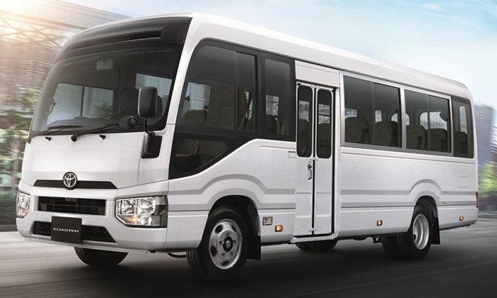 Toyota Coaster 2019 ใหม่ รถโดยสาร 20 ที่นั่ง ขุมพลังดีเซล 4.0 ลิตร ราคา 1.96 ล้านบาท
