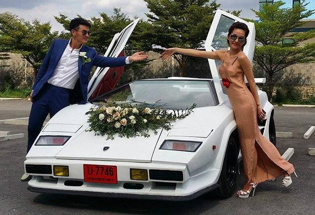 ส่องรถงานแต่ง 'บีม-ชาช่า' กับ Lamborghini Countach มูลค่าไม่ต่ำกว่า 50 ล้าน!!!