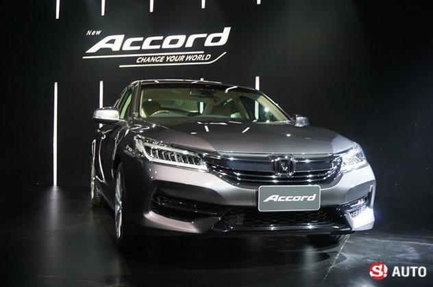 2016 Honda Accord ไมเนอร์เชนจ์ใหม่ เปิดตัวอย่างเป็นทางการ เคาะรุ่นท็อป 1.635 ล้านบาท