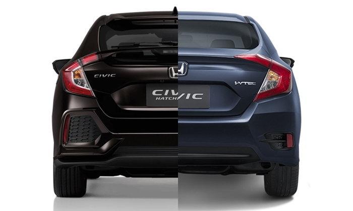 เทียบสเป็ค Honda Civic 2017 โฉมซีดานและแฮทช์แบ็คต่างกันตรงไหนบ้าง?