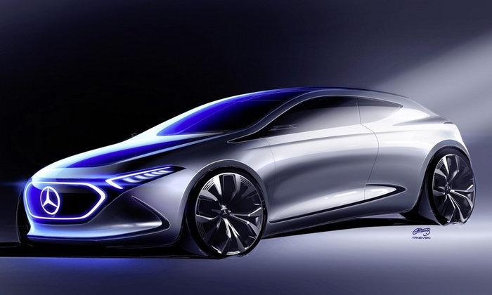Mercedes-Benz EQ A Concept ต้นแบบ A-Class ใหม่เผยทีเซอร์แล้ว