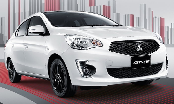 Mitsubishi Attrage 2019 ไมเนอร์เชนจ์ใหม่ เพิ่มกระจกตัดแสงออโต้ ราคา 483,000 บาท