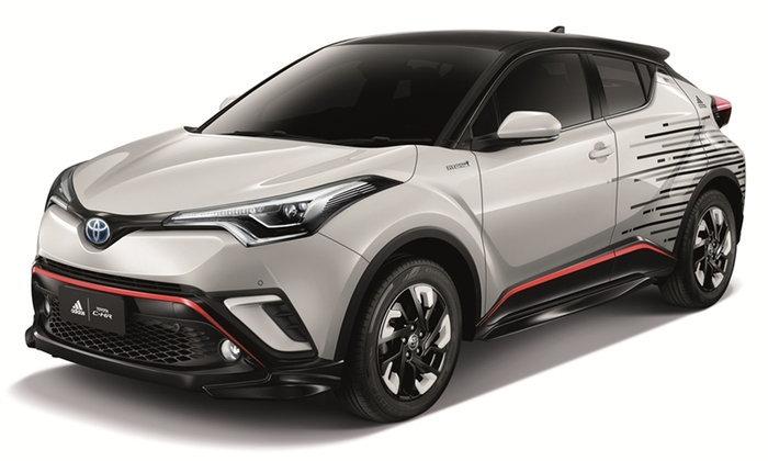 Toyota C-HR Adidas 2018 ใหม่ จับมืออาดิดาสปล่อยชุดแต่งพิเศษใหม่ล่าสุด