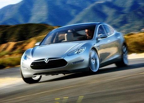 Tesla Model S concept สปอร์ตซีดาน ขับเคลื่อนด้วยไฟฟ้า