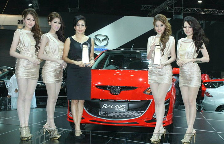 ราคารถใหม่  Mazda ในตลาดรถยนต์เดือน มีนาคม  2556