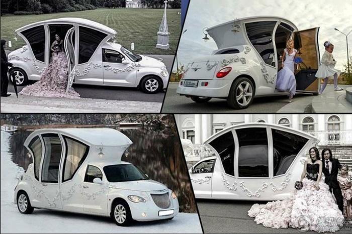 เจ๋งอ่ะ! รถแต่งงานสุดแนว ดูเผินๆอย่างกับวัง!