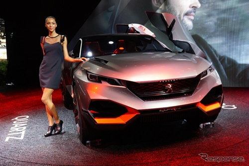 Peugeot Quartz คอนเซ็พท์ไฮบริดเอสยูวี 500 แรงม้า