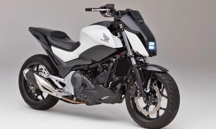 Honda เผยโฉมมอเตอร์ไซค์ทรงตัวเองได้ไม่ต้องใช้ 'ขาตั้ง'..!