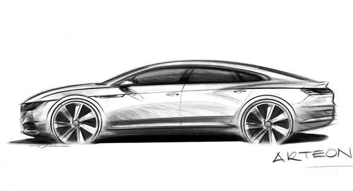 เผยทีเซอร์ 2017 Volkswagen Arteon เก๋งสปอร์ตรุ่นใหม่แทนที่ CC เดิม