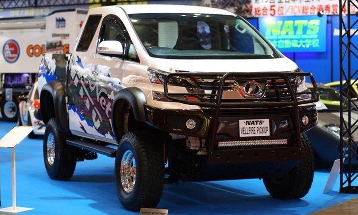 โหดจัด! Toyota Vellfire Pickup จับแวนหรูแต่งเป็นรถกระบะที่งานโตเกียวออโต้ซาลอน 2018