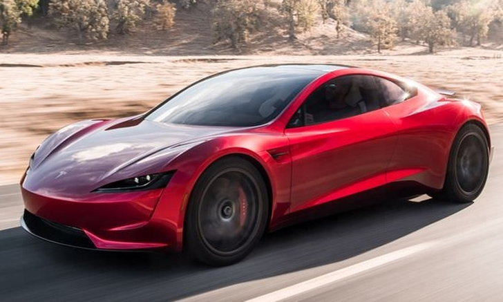 Tesla Roadster ใหม่ จะมีอ็อพชั่น SpaceX มาพร้อมจรวด 10 ตัวรอบคัน