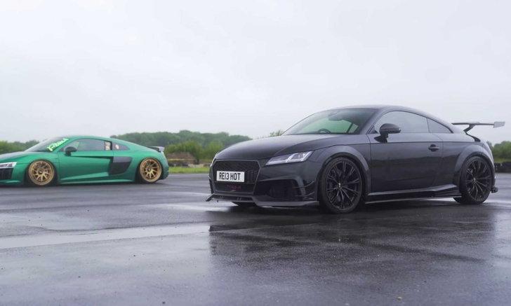 เปิดคลิป Audi TT RS อัปเกรดมาเพื่อขอฟัดกับรุ่นใหญ่อย่าง R8 V10 Plus!