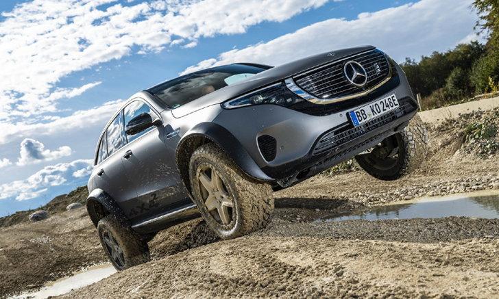 ไร้ขีดจำกัด! Mercedes-Benz เปิดโปรเจกต์ EQC 4 ×4² โชว์พลังขับเคลื่อนเต็มขั้น