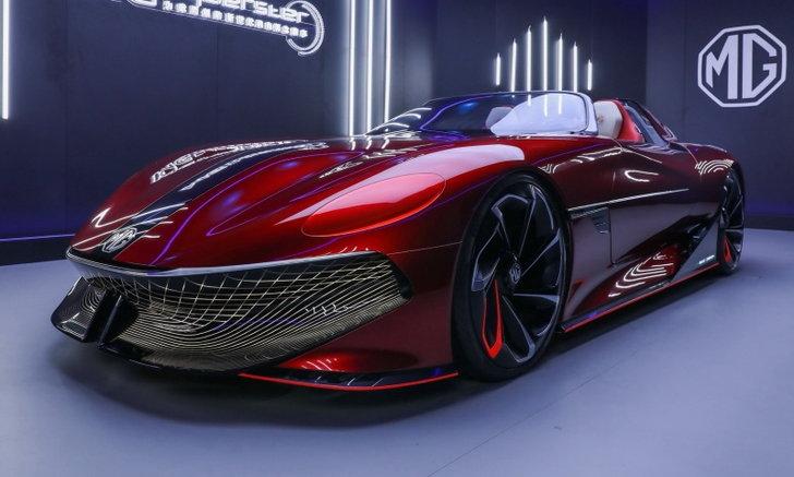 MG Cyberster ใหม่ ต้นแบบรถสปอร์ตไฟฟ้าวิ่งได้ 800 กม. เผยโฉมครั้งแรกในโลก