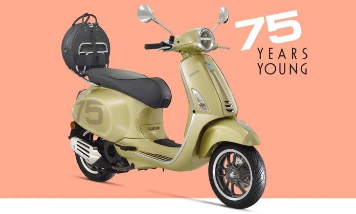 Vespa Primavera 75th และ GTS 75th รุ่นพิเศษเฉลิมฉลองครบรอบก่อตั้งแบรนด์กว่า 75 ปี