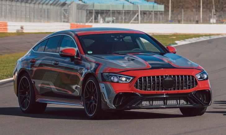 Mercedes-AMG GT 73 e 2021 ใหม่ ตัวแรงขุมพลังไฮบริดเผยทีเซอร์ก่อนเปิดตัวปลายปีนี้
