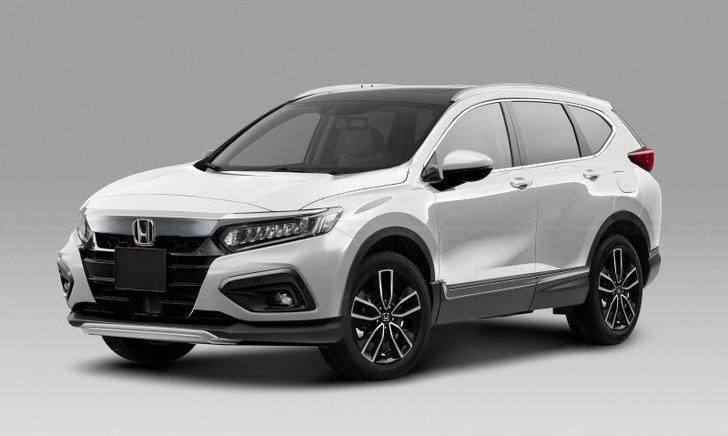 ภาพตัดต่อ All-new Honda CR-V 2022 ใหม่ อาจมีหน้าตาออกมาเป็นแบบนี้