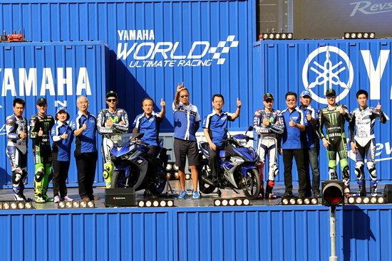 4 นักแข่งระดับโลกทีมยามาฮ่า ร่วมเปิดตัว Yamaha YZF-R3 และ Yamaha Exciter 150 สุดยิ่งใหญ่