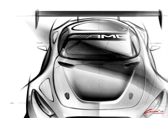 เบนซ์เผยภาพสเก็ตช์ Mercedes AMG GT3 ใหม่ เตรียมเปิดตัวในเดือนมี.ค.นี้
