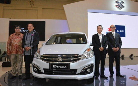 Suzuki Ertiga 2015 ไมเนอร์เชนจ์ใหม่เผยโฉมอย่างเป็นทางการที่อินโดฯ