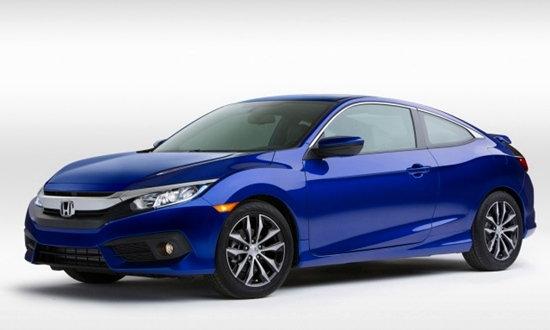2016 Honda Civic Coupe ใหม่ เผยโฉมแล้วที่สหรัฐฯ