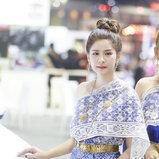 พริตตี้ชุดไทยในงานมอเตอร์โชว์ 2018