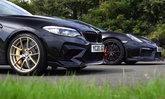 เดือดจัด! BMW M2 CS ดวล Porsche Cayman GT4 ใครจะเป็นที่หนึ่งในการแข่งขันทางตรง (คลิป)