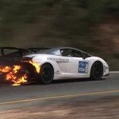 Lamborghini ไฟไหม้