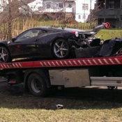 อุบัติเหตุ Ferrari 458