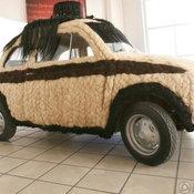 Fiat 500 หุ้มเส้นผมมนุษย์