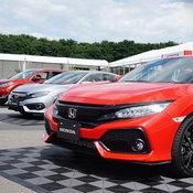 Honda Civic สีแดง Frame Red