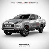Mitsubishi Triton Rendered / indianautosblog